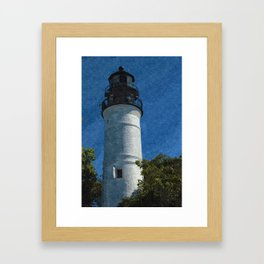 Key West Lighthouse Framed Art Print