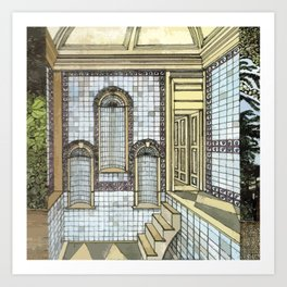 BATH HOUSE Art Print