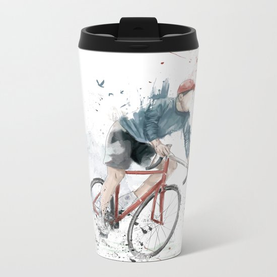 I want to ride my bicycle Metal Travel Mug