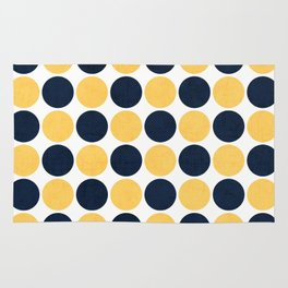 navy and yellow dots Rug