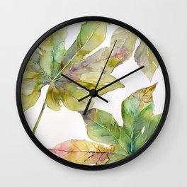 Aralia japonica Leaves Foliage Wall Clock