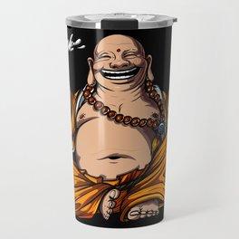 Buddha Beer Drinking Yoga Meditation Funny Party Travel Mug