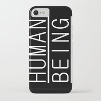 human iPhone & iPod Cases featuring Human by PsychoBudgie