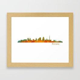 Kansas City Skyline Hq v1 Framed Art Print
