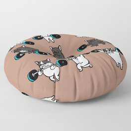 OLYMPIC LIFTING  FRENCH BULLDOG Floor Pillow