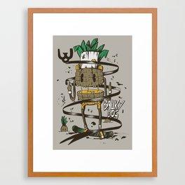 Pineapple juice Framed Art Print