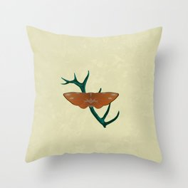 D'Ear Moth Throw Pillow