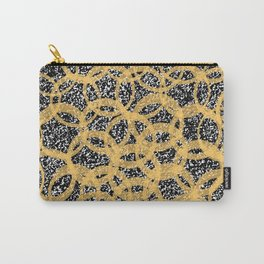 Abstract Beehive Yellow & Black Pattern Carry-All Pouch