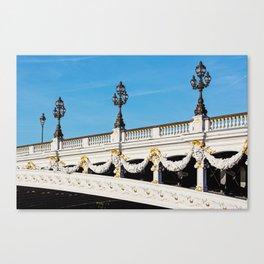 Pont Alexandre IIi - Paris, France Canvas Print