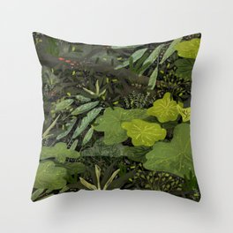 Forest Life Throw Pillow