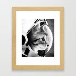 Astronaut Cat #3 Framed Art Print