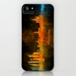 Moscow City Skyline art HQ v4 iPhone Case