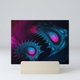 Deep-Sea Bioluminescence. Fractal Abstract Fantasy. Mini Art Print