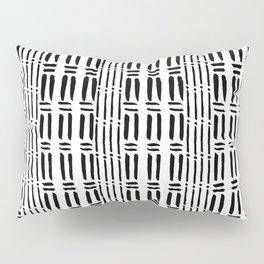 Black white hand painted watercolor brushstrokes pattern Pillow Sham