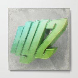 Anaglyph // XYZ Metal Print