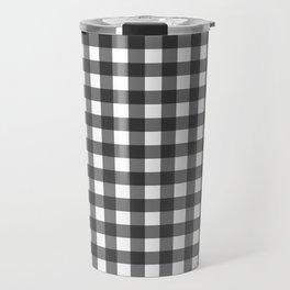 BLACK AND WHITE GINGHAM Travel Mug