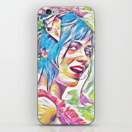Zooey Deschanel (Creative Illustration Art) iPhone Skin