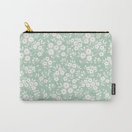 Cute floral pattern. Small white flowers.  Carry-All Pouch