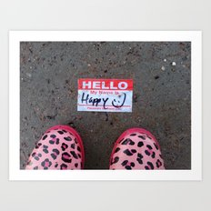 Hello, My Name Is Happy Art Print