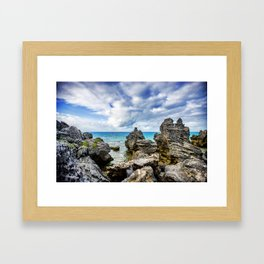 Tobacco Bay Beach, Bermuda Framed Art Print