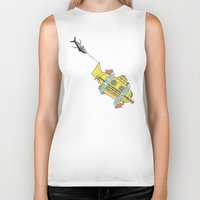 the life aquatic Biker Tanks featuring This Is An Adventure | The Life Aquatic with Steve Zissou by Scott Erickson