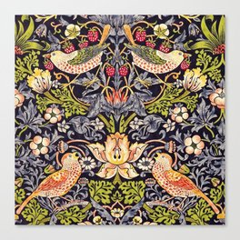 William Morris Strawberry Thief Art Nouveau Painting Canvas Print
