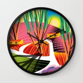 Trip to Elysian Park Wall Clock
