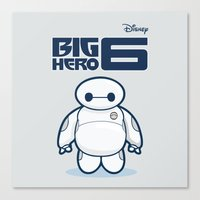 baymax Canvas Prints featuring BAYMAX by bimorecreative