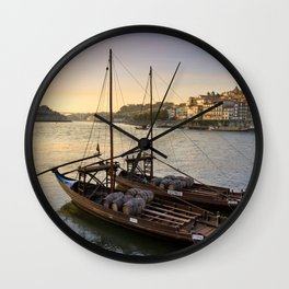 Oporto sunset,  Portugal Wall Clock