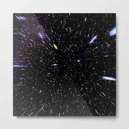 Warp Speed Metal Print