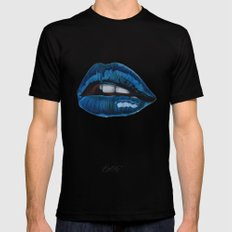 Cool Lips Mens Fitted Tee Black MEDIUM