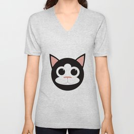 Black & White Cat Unisex V-Neck