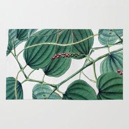 Green leaves I Rug