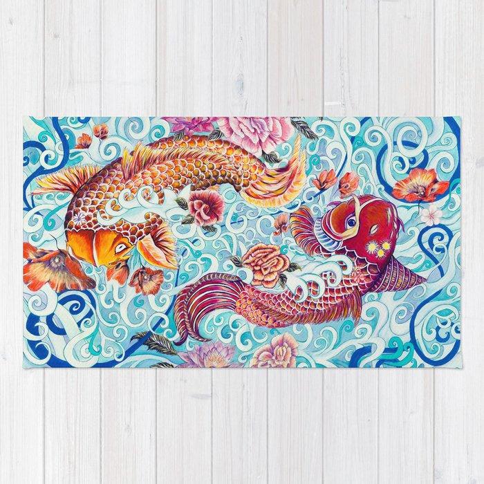Koi Fish Rug By Risaoram