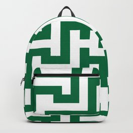 White and Cadmium Green Labyrinth Backpack