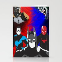 nightwing Stationery Cards featuring Nightwing, Red Hood by dudesweet