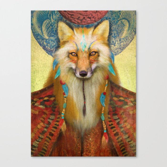 Wise Fox Canvas Print