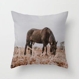 horse by Annie Spratt Throw Pillow