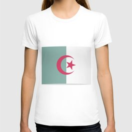 Flag of Algeria. The slit in the paper with shadows. T-shirt