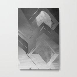 black&white Metal Print