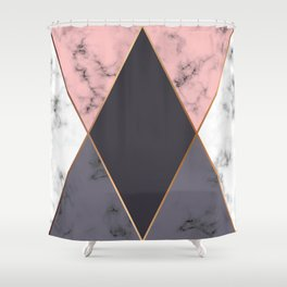 Marble Geometry 018 Shower Curtain