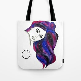 Water Colour And Pen & Ink Kylie Jenner Tote Bag