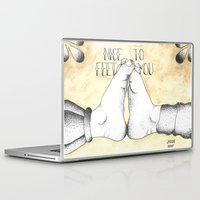 vonnegut Laptop & iPad Skins featuring Nice to Feet You by Jacob Roost