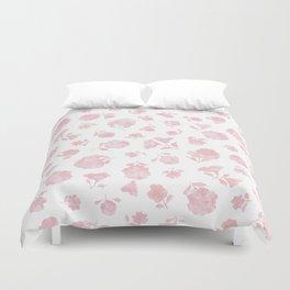 Pink Shadow Bloom Duvet Cover