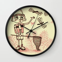 Summer Dragonflies Wall Clock
