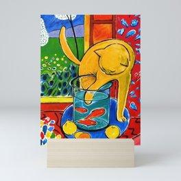 Henri Matisse - Cat With Red Fish still life painting Mini Art Print