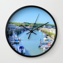 Padstow - Boat Pound (Full View) Wall Clock