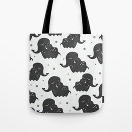 Black Elehants Tote Bag