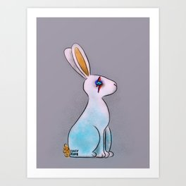 Bunny in Space Art Print
