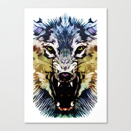 Wolf Icon 04 Canvas Print